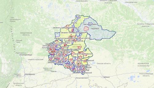 Карта охотника — Тюменская область