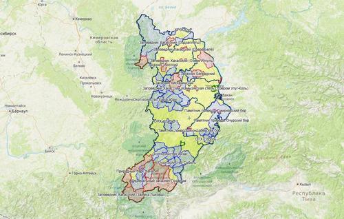 Карта охотника — Хакасия.
