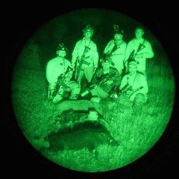 Охота с очками ночного видения