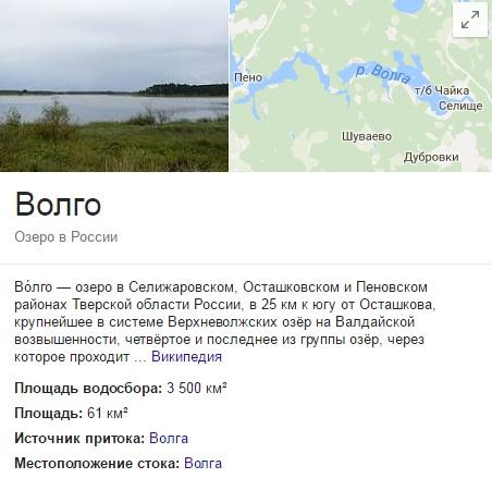 Озеро Волго Тверская область