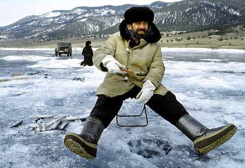 ловля рыбы зимой на Байкале