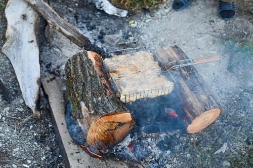 шашлык на рыбалке в Волгоградской области