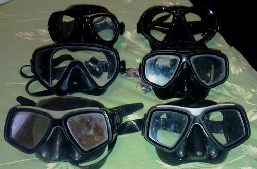 Различные маски для подводной охоты
