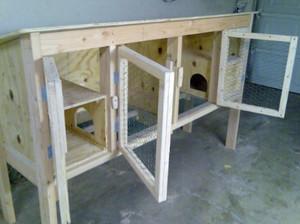 Этапы изготовления простой клетки для кроликов своими руками