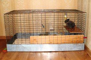 Самодельная клетка для кролика - простые решения