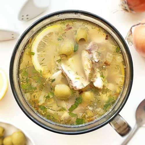 Рыбный суп с макаронами или вермишелью