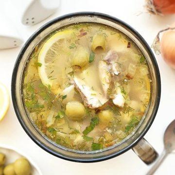суп из консервированной сайры с пшеном