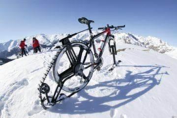 Велосипед-снегоход, своими руками