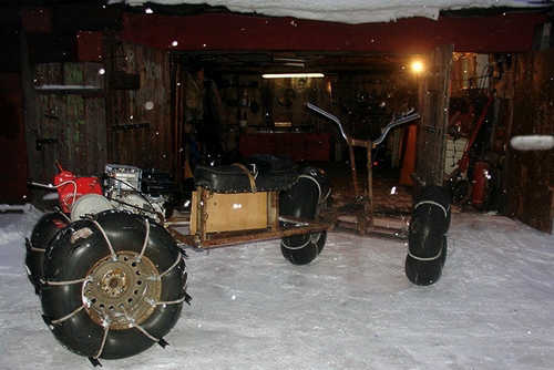 Homemade all-terrain vehicles on low pressure tires