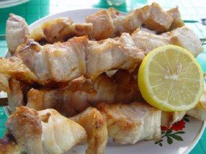 Шашлык из рыбы белуги