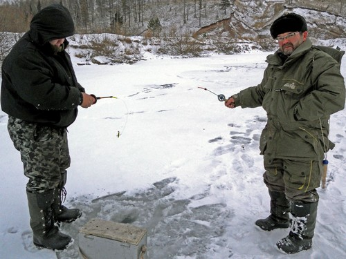 Замерзшие балансирщики и их снасти