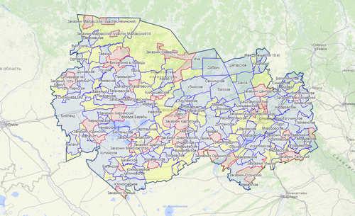 Карта охотника — Новосибирская область