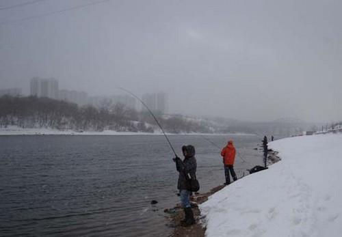 Зимняя ловля спиннингом на Москва-реке и в Подмосковье