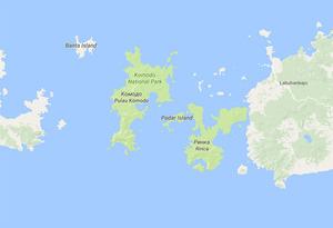 Остров Комодо-место обитания варанов