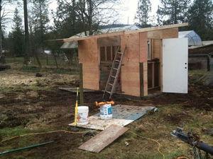 Этапы строительства стен свинарника