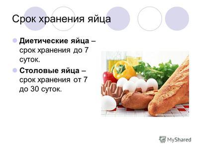 Срок годности куриных яиц и условия хранения