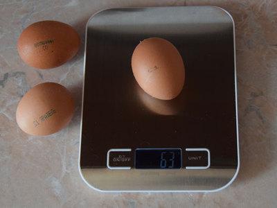 Вес куриного яйца, сколько оно весит грамм без скорлупы
