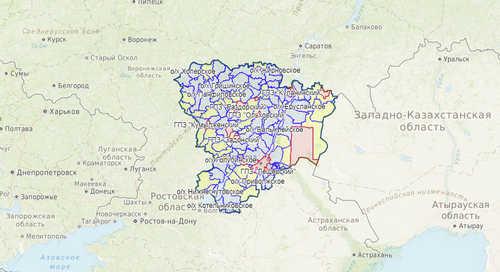 Карта охотника, Волгоградская область