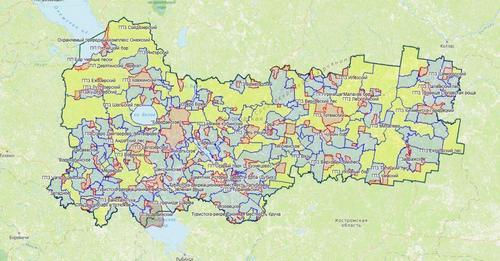Карта охотника, Вологодская область