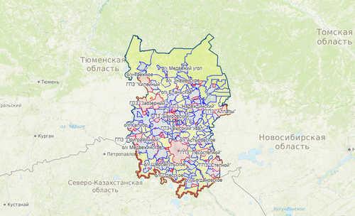 Карта охотника Омская область
