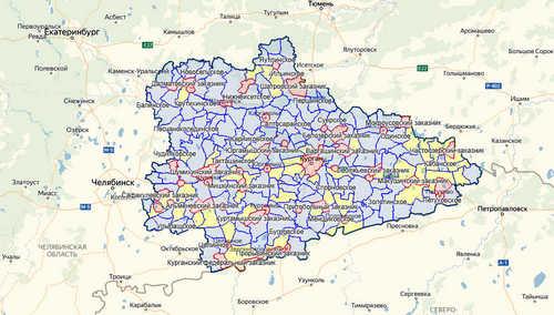 Обновление карты охотугодий Курганской области