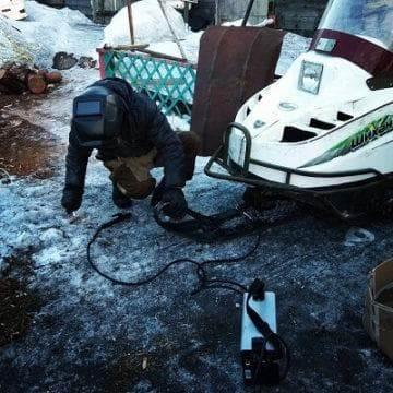 натяжение гусеницы снегохода буран