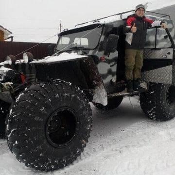 снегоболотоход хищник