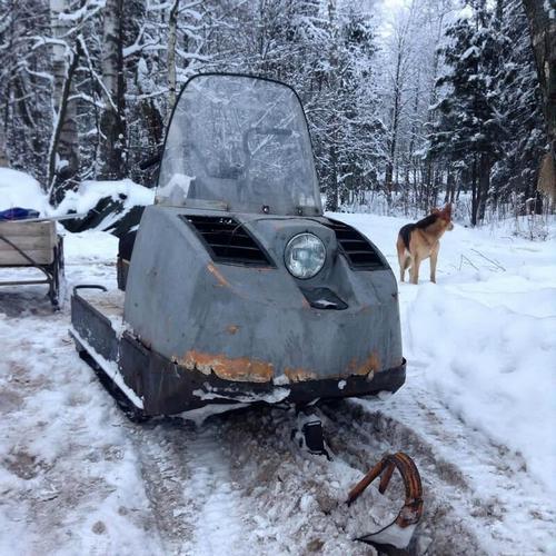 Замена цепи снегохода Буран